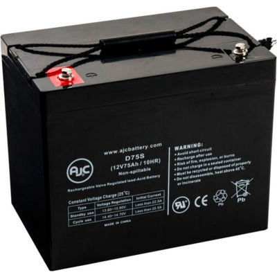 AJC® Permobil Chairman Basic PlaymanRobo 12V 75Ah Scooter Battery