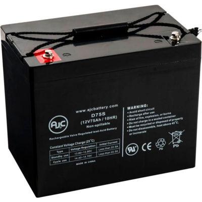 AJC® EV Rider Royale 4 Wheel 12V 75Ah Wheelchair Battery