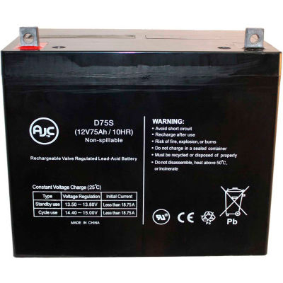 AJC® Liebert 300 Back-Up 12V 75Ah UPS Battery