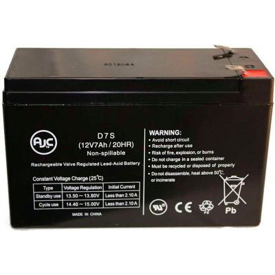 AJC® Powerware Fortress 750 BAT-0062 12V 7Ah UPS Battery