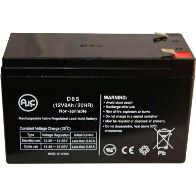 AJC® Falcon Electric SG1KRM-1TU, SG1KRM-2TU 12V 8Ah UPS Battery