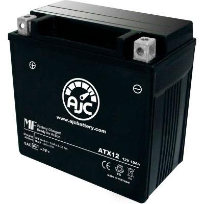 AJC Battery Kawasaki ZX600-E F Ninja ZX-6 6R 600CC Motorcycle Battery (1993-2002), 10 Amps, 12V