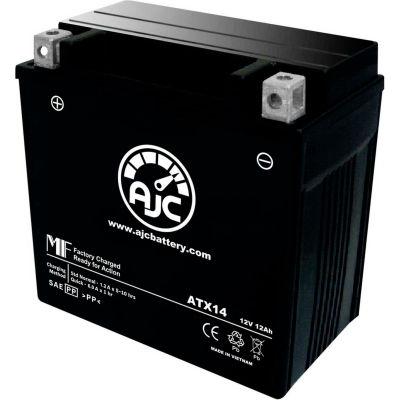 AJC Battery Kawasaki KVF750 Brute Force 750CC ATV Battery (2005-2018), 12 Amps, 12V, B Terminals