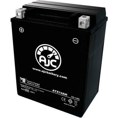 AJC Battery Kawasaki KLF300-B Bayou CN 300CC ATV Battery (1992-1999), 14 Amps, 12V, B Terminals