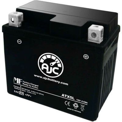 AJC Battery Yamaha XF50W (C3) 50CC Scooter Battery (2007-2013), 4.5 Amps, 12V, B Terminals