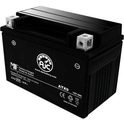 AJC Battery Kawasaki Versys 1000 LT 1000CC Motorcycle Battery (2015-2017), 8 Amps, 12V, B Terminals