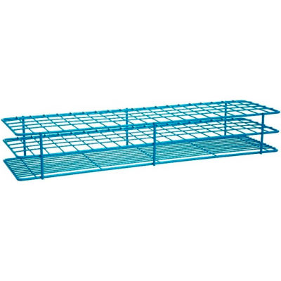 """Bel-Art Poxygrid® """"Rack And A Half"""" Test Tube Rack, For 15-16mm Tubes, 100 Places, Blue, 1/PK"""