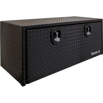 Buyers Aluminum Underbody Toolbox 18x18x24 Black - 1725100