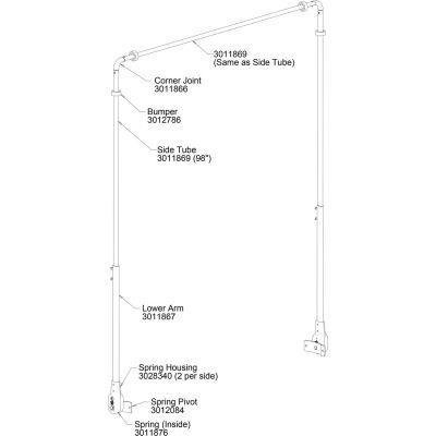 Buyers Aluminum Upper Tarp Arm - 3011869