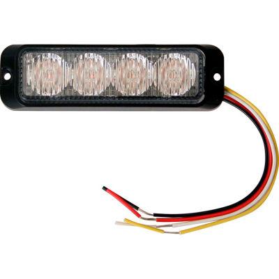 Buyers LED Rectangular Clear Strobe Light 12-24V - 4 LEDs - 8891131