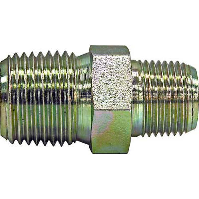 """Buyers Connector Hex Nipple, H3069x12, 1/8"""" X 1/8"""" Npt Male To Male - Min Qty 18"""