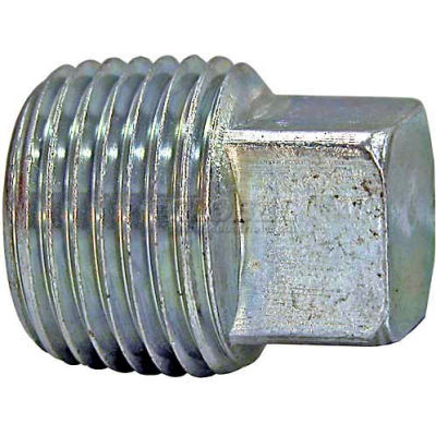 "Buyers Square Head Plug, H3179x12, 3/4"" Male Pipe Thread - Min Qty 43"