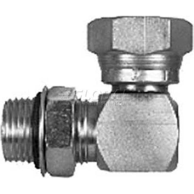 Male Strt. Thread To Fml Pipe Swivel 90° Elbow, H9515x8x8, 3/4-16, 1/2-14 Npsm Nut-Min Qty 9