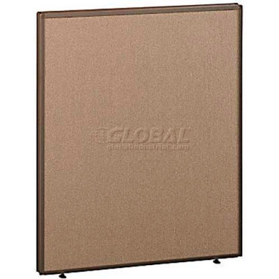 """Office Partitions - Taupe Frame Tan Fabric - 66""""H x 36""""W"""