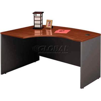 Bush Furniture Left Hand Wood Desk with Bow Front - Hansen Cherry - Series C