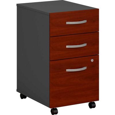 Bush Furniture Three Drawer File Cabinet (Assembled) - Hansen Cherry - Series C