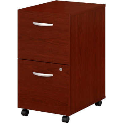 Bush Furniture Two Drawer File Cabinet (Assembled) - Mahogany - Series C