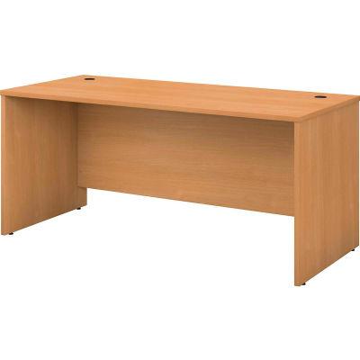 "Bush Furniture Wood Desk Shell - 66"" - Light Oak - Series C"