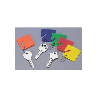 Sandusky Buddy 0011 - 15 Blank Plastic Key Tags - Assorted Colors.  - Pkg Qty 12