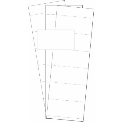 """MasterVision Data Card Replacement Inserts, White, Accessories, 3"""" X 1.75"""", 500 pack"""
