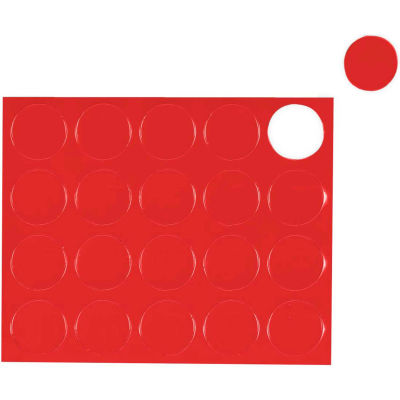 MasterVision Red Circle Magnets, Pack of 20