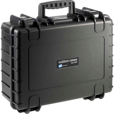 "B&W Medium Outdoor Waterproof Case W/ Reconfigurable Padded Divider Insert 18-1/2""Lx14-1/2""W,Black"