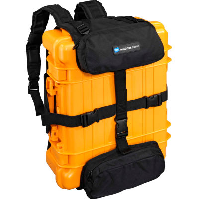 """B&W Back Pack Harness System For Type 4000 Outdoor Cases 10""""L x 3""""W x 17""""H, Black"""