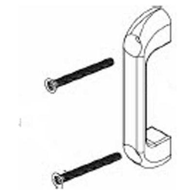 Bradley Chromed Zamac Countersink Door Pull Kit - Zamak, Phenolic - HDW0-Z0168