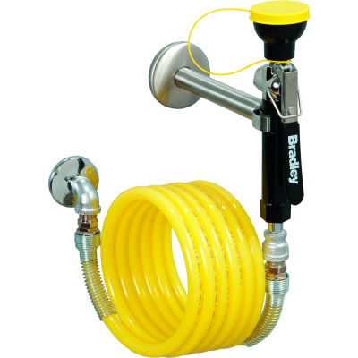 Bradley S1944011CBC Wall-Mounted Hand-Held Hose Spray with 12' Hose