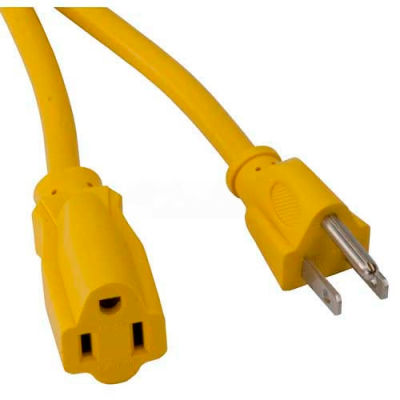 Bayco® SL-751, 100'L Single Tap Extension Cord, 16/3 GA, 10amp, Yellow, 6-PK - Pkg Qty 6