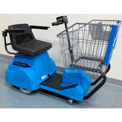 Electro Kinetic Technologies EZ-Shopper Electric Grocery Cart EZS-1772-8000-BEA Blue 750 Lb. Cap.