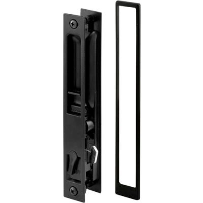Prime-Line® Sliding Door Handle Set, Black Diecast, No Pull, Croft, C 1101