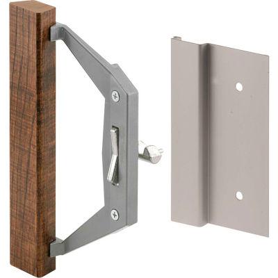 Prime-Line C 1186 Sliding Door Handle Set, Wood Handle, Trimview