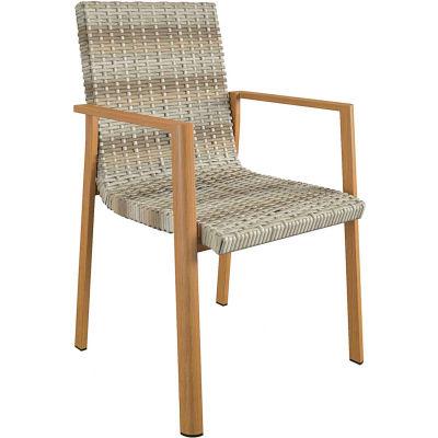 Bridgeport™ Palero Outdoor Dining Chairs, Aluminum, Tan,  4-Pack