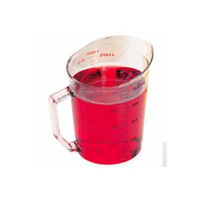 Cambro 100MCCW135 - Camwear Measuring Cup, 1 Quart, Clear, Polycarbonate, Handle, Dishwasher Safe - Pkg Qty 12