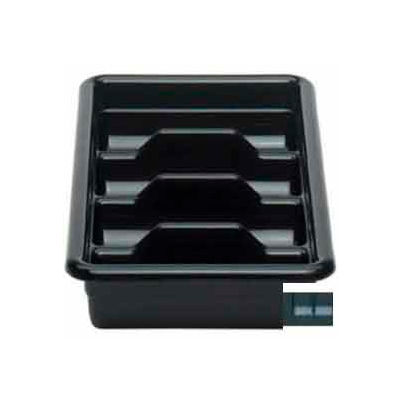"Cambro 1120CBP110 - Cutlery Box, 4 Compartments, 11-3/8""L x 20-7/16""W x 3-3/4""H,  Plastic, Black - Pkg Qty 12"
