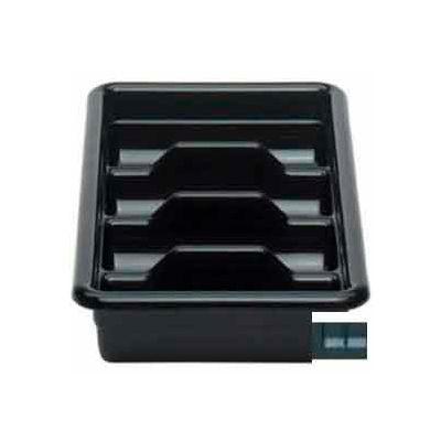 """Cambro 1120CBP110 - Cutlery Box, 4 Compartments, 11-3/8""""L x 20-7/16""""W x 3-3/4""""H,  Plastic, Black - Pkg Qty 12"""