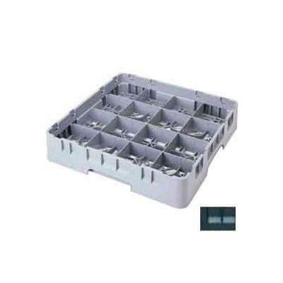 "Cambro 16S1058110 - Camrack  Glass Rack 16 Compartments 11"" Max. Height Black NSF - Pkg Qty 2"