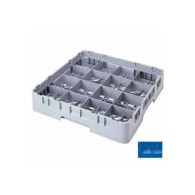 """Cambro 16S738168 - Camrack  Glass Rack 16 Compartments 7-3/4"""" Max. Height Blue NSF - Pkg Qty 3"""