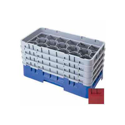 """Cambro 17HS318416 - Camrack  Glass Rack 17 Compartments 3-5/8"""" Max. Height Cranberry NSF - Pkg Qty 5"""