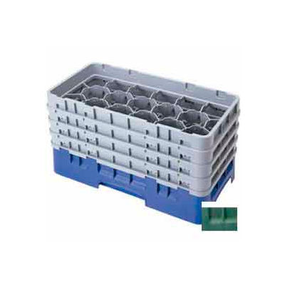 "Cambro 17HS638119 - Camrack  Glass Rack 17 Compartments 6-7/8"" Max. Height Sherwood Green NSF - Pkg Qty 3"