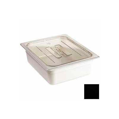 Cambro 20CWCH110 - Camwear Food Pan Cover, 1/2 Size, With Handle, Polycarbonate, Black, NSF - Pkg Qty 6