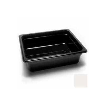 """Cambro 24CW148 - Camwear Food Pan, 1/2 Size, 4"""" Deep, Polycarbonate, White, NSF - Pkg Qty 6"""