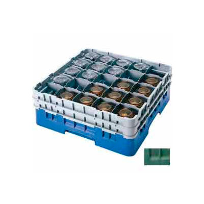 """Cambro 25S1114119 - Camrack  Glass Rack 25 Compartments 11-3/4"""" Max. Height Sherwood Green - Pkg Qty 2"""
