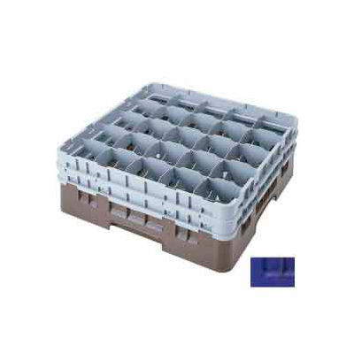 """Cambro 25S534186 - Camrack  Glass Rack Low Profile 25 Compartments 6-1/8"""" Max. Ht. Navy Blue - Pkg Qty 4"""