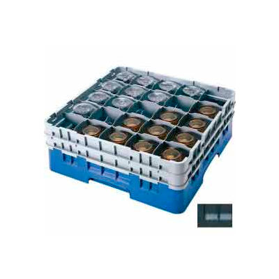 """Cambro 25S800110 - Camrack  Glass Rack 25 Compartments 8-1/2"""" Max. Height Black NSF - Pkg Qty 2"""