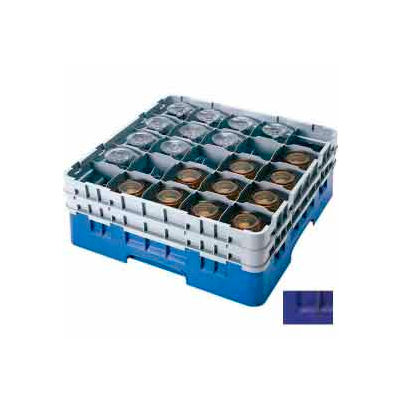 """Cambro 25S800186 - Camrack  Glass Rack 25 Compartments 8-1/2"""" Max. Height Navy Blue - Pkg Qty 2"""