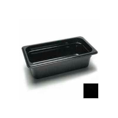 "Cambro 34CW110 - Camwear Food Pan, Plastic, 1/3 Size, 4"" Deep, Polycarbonate, Black, NSF - Pkg Qty 6"