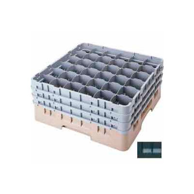 """Cambro 36S418110 - Camrack  Glass Rack Low Profile 36 Compartments 4-1/2"""" Max. Height Black - Pkg Qty 5"""