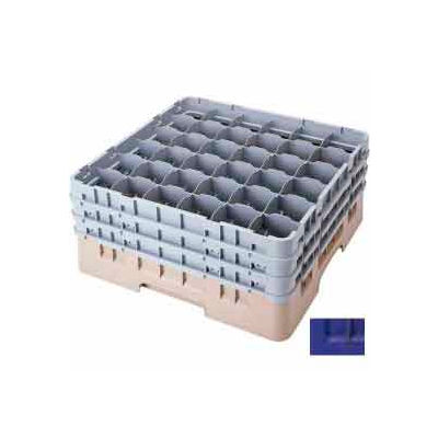 """Cambro 36S434186 - Camrack Glass Rack Low Profile 36 Compartments 5-1/4"""" Max. Height Navy Blue - Pkg Qty 4"""